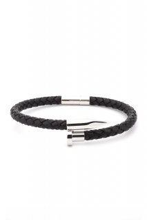 TWISTED NAIL BRACELET-Black/Silver