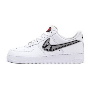 FATAL AIR FORCE 1 Silver / White Low Custom Sneakers