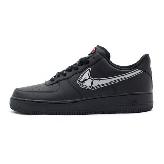 FATAL AIR FORCE 1 Silver / Black Low Custom Sneakers