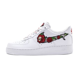 SKULL N' ROSES AIR FORCE 1 Low White Custom Sneakers