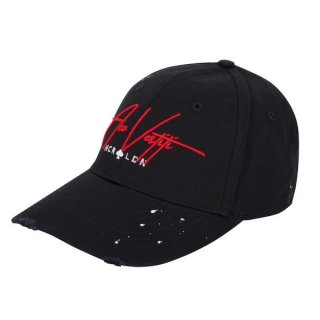 DISTRESSED PAINT SPLATT SIGNATURE BLACK BASEBALL