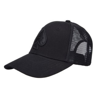 BLACK TRUCKER WITH BLACK ACE
