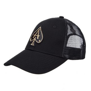 BLACK TRUCKER WITH ROSE GOLD ACE