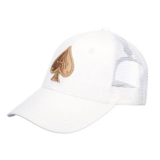 ALL WHITE TRUCKER ALL GOLD ACE