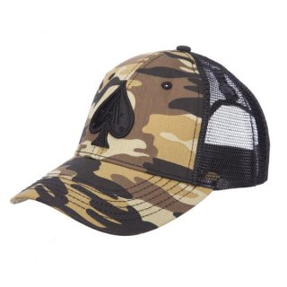 CAMO TRUCKER WITH BLACK ACE