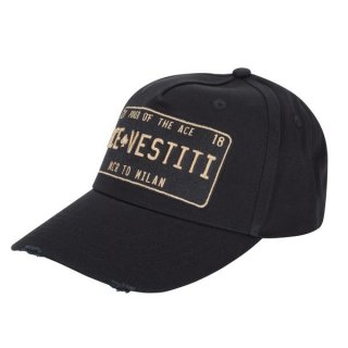 DISTRESSED BLACK WITH BLACK/GOLD PLATE