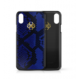 iPhone XS/X CASE - BLUE PYTHON