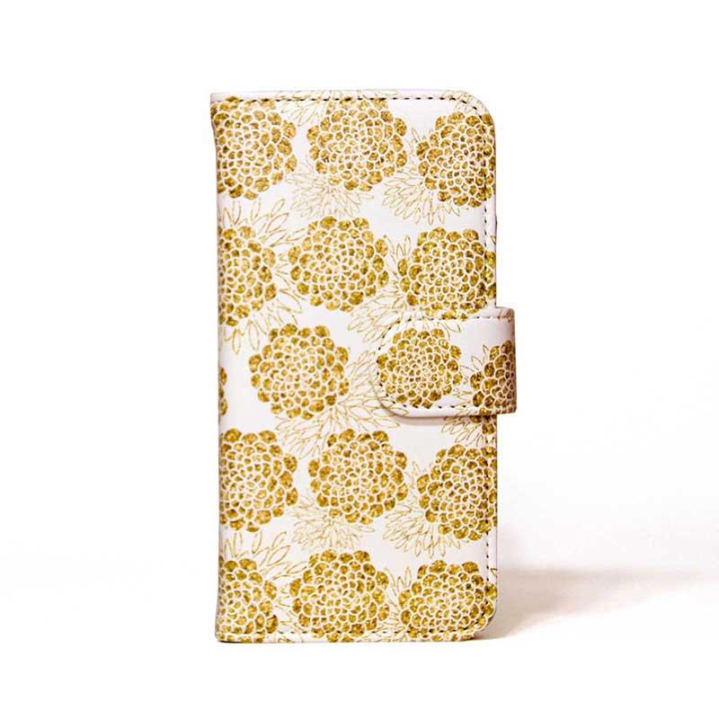 「「Golden Flowers」 | 手帳型iPhoneケース | MIRROR / Diary