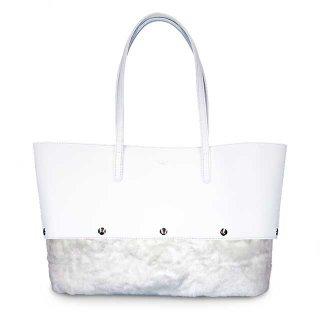 着せ替えトートバッグ「PIECE」Milk (TOP) × Marshmallow (BOTTOM)