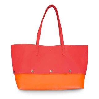 着せ替えトートバッグ「PIECE」Cherry (TOP) ×  Pumpkin (BOTTOM) 限定色モデル