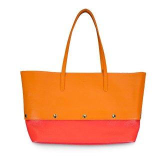 着せ替えトートバッグ「PIECE」Pumpkin (TOP) × Cherry (BOTTOM) 限定色モデル