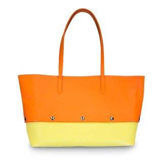 着せ替えトートバッグ「PIECE」Pumpkin (TOP) × Grapefruits (BOTTOM) 限定色モデル