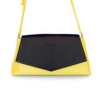 着せ替えショルダーバッグ「CHIPS」Night Black (FLAP) × Grapefruits(BASE)  限定色モデル