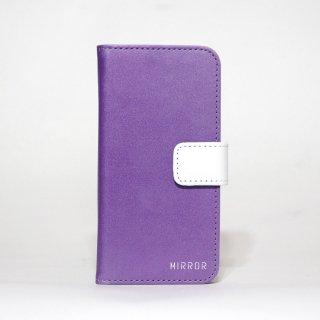 サンプル品「MIRROR my colors - パープル×ホワイト」 | 手帳型iPhone 6/6sケース