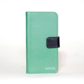 サンプル品「MIRROR my colors - グリーン×ブラック」 | 手帳型iPhone 6/6sケース