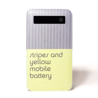 「strips and yellow mobile battery」 | モバイルバッテリー