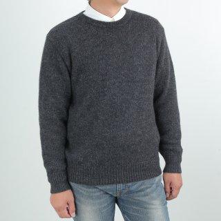 メンズ ベビーアルパカ ベーシックセーター(クルーネック) 全4色