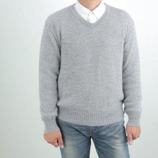 メンズ ベビーアルパカ ベーシックセーター(Vネック) 全3色