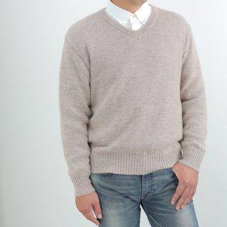 メンズ スーパーベビーアルパカ ベーシックセーター(Vネック) 全1色