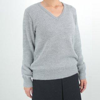 レディース ベビーアルパカ ベーシックセーター(Vネック) 全3色
