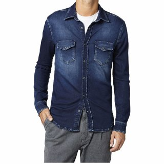 -PEPE MEN'S DENIM L/S SHIRT