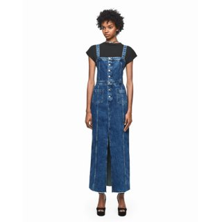 DUA LIPA X PEPE JEANS - Strapped Denim Split Dress