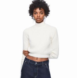 DUA LIPA X PEPE JEANS - Cropped Roll-neck Knit
