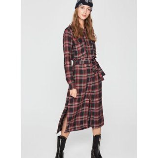 MIRIAM CHECKED SHIRT DRESS