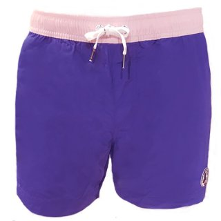 MEN'S SWIM WEAR 9941-HOURTIN | BLEU FONCE/ ROSE PALE