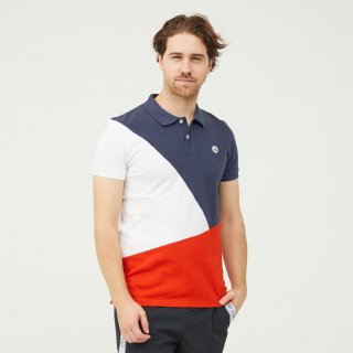 MEN'S S/S POLO 2918-CHERBOURG | MARINE/BANDE REFLECT