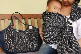 SL-BBH 水玉(黒)スリング&大きいバッグ