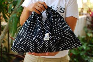 AZB-BC-BK バティックチェック(ブラック)あづま袋115%ビッグサイズ
