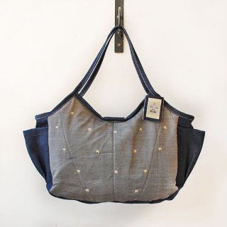 TMM-040-GY 刺繍(グレー)ミニママバッグ