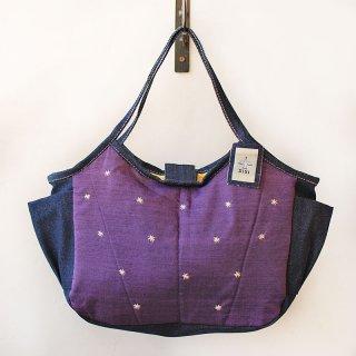TMM-040-PP 刺繍(紫)ミニママバッグ