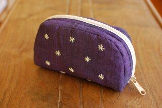 PO-040-PP-S 刺繍(紫) ポーチ(小)
