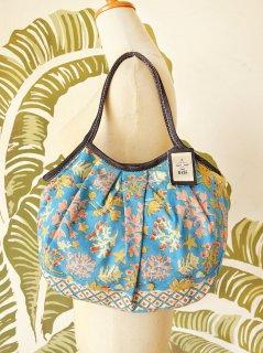 珊瑚(ブルー)裾柄あり 定番サイズ