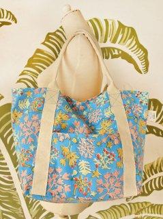 珊瑚(ブルー) キャンバスバッグ定番サイズ
