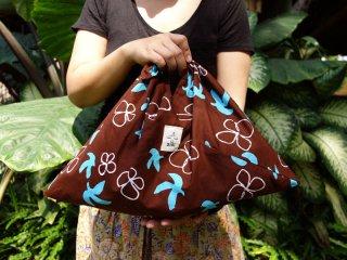 【オリジナルバティック鳥と花5色】あづま袋 115%ビッグサイズ