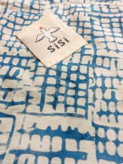 【ご予約商品:お届けは10月10日(土)前後の予定です】バティックあづま袋 115%ビッグサイズ 水色格子 AZB-20-09
