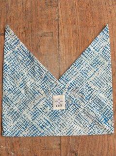 あづま袋 ミニサイズ 水色格子 AZS-20-12