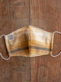 耳に優しいタイプのゴムを使った草木染めの布のマスク(男女兼用Lサイズ) L-MSK-TRM-01