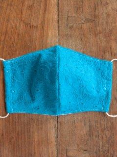 布マスク(男女兼用Lサイズ)刺繍ターコイズ L-MSK-BDTQ