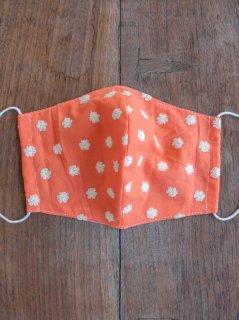 布マスク(男女兼用Lサイズ)刺繍オレンジ L-MSK-BDOR
