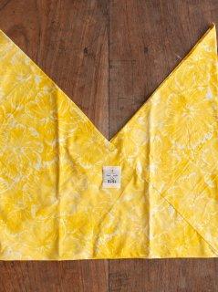 【ご予約商品:お届けは10月10日(土)前後の予定です】あづま袋 定番サイズ バティック花柄(イエロー) AZ-BTK-BYL