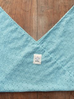 【ご予約商品:お届けは10月10日(土)前後の予定です】あづま袋 定番サイズ 刺繍(トルマリンブルー)  AZ-BD-TB