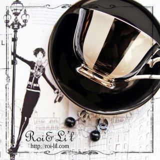 転写紙 『Noir-Sable ノワール・サーブル (ブラック単色) 』 白磁 陶芸 焼成用 A3サイズ【Roi&Li'l】ポーセリンアート
