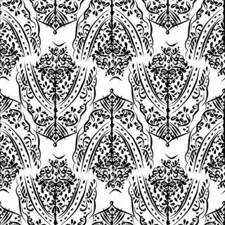 転写紙 『DamaskRich ダマスクリッチ』白磁陶芸 焼成用 A3サイズ【Roi&Li'l】ポーセリンアート