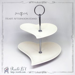 白磁『HEART afternoon tea stand』【Roi&Li'l】ポーセリンアート<img class='new_mark_img2' src='https://img.shop-pro.jp/img/new/icons58.gif' style='border:none;display:inline;margin:0px;padding:0px;width:auto;' />
