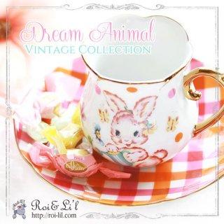 転写紙 『Dream Animal-vintage collection』 白磁 陶芸 焼成用 A4サイズ【Roi&Li'l】ポーセリンアート