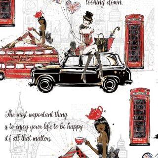 【プライスダウン】インテリアタイルアート転写紙 『I LOVE LONDON』  A3
